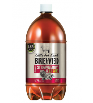 Little Fat Lamb Brewed Strawberries & Lime Cider 8% 1.25L(Case of 12)