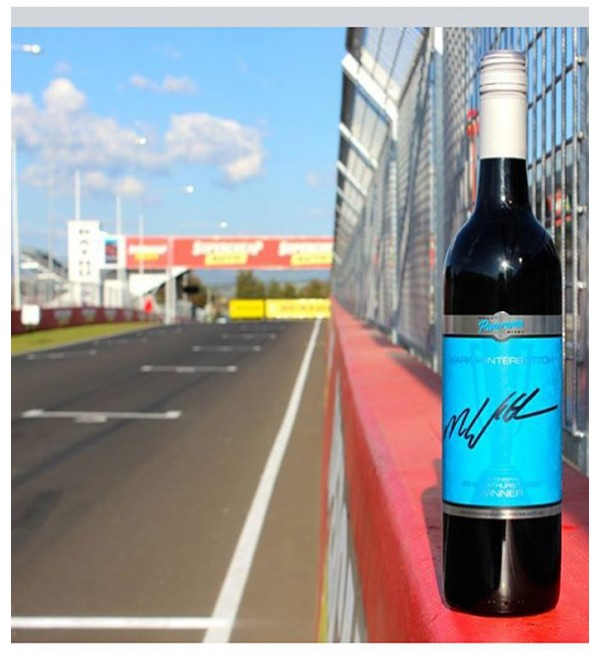 "Mount Panorama Wines Mark ""Frosty"" Winterbottom Shiraz Hand Signed"
