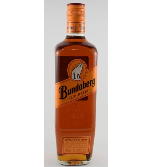 bundaberg Rum overproof crafted and distilled
