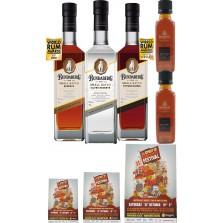 Bundaberg Rum Small Batch Set, Silver, Small Batch,Vintage Barrel New Release (Free Shipping)