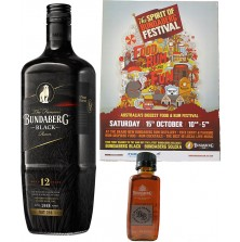 Bundaberg Rum Black Vat 244, 1 Litre & 1 Black Barrel 50ml (Free Shipping)