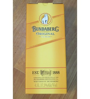 Bundaberg Rum UP Cradle 4.5 Litre Full Sealed Boxed